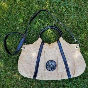 Relic straw purse handbag